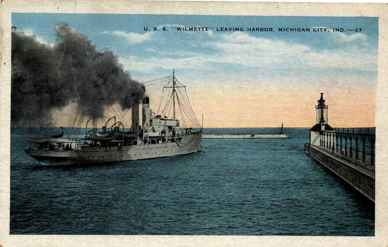 After Eastland was raised from the river, she was sold to the US Navy where they refitted and redesigned. They renamed her USS Wilmette and she was used as as Navy training vessel on Lake Michigan.
