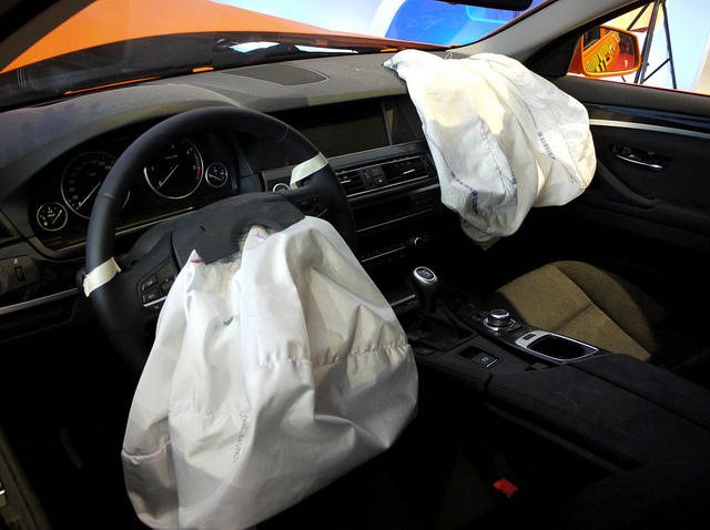 deployed front airbags