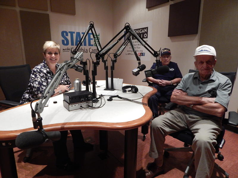 Host Cynthia Canty with Edward Morisette and Bob Hinsdale