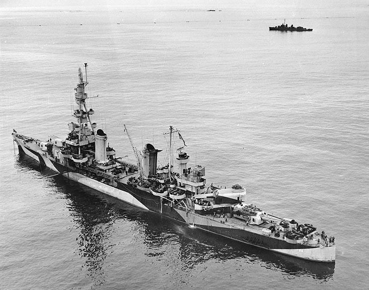 The ship Hinsdale was aboard, the USS Pensacola