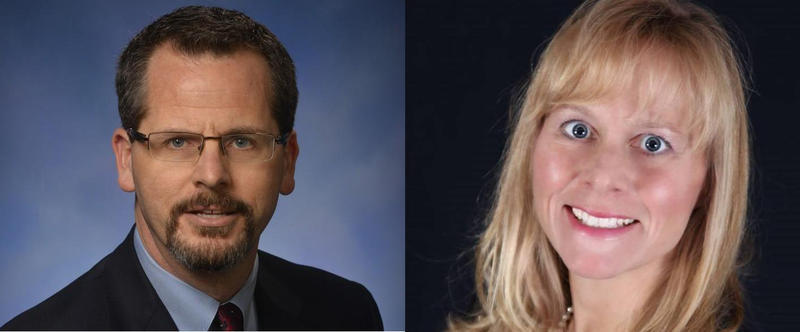 Former Michigan Representatives Todd Courser and Cindy Gamrat.