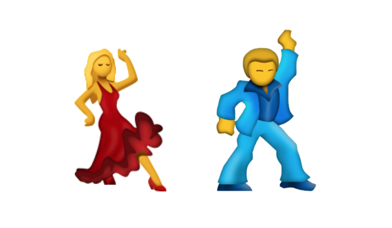 The dancing woman gets a male partner