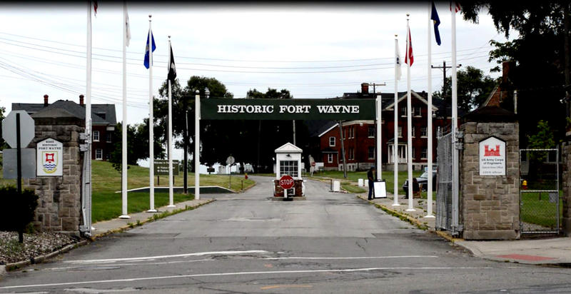 The entrance to Historic Fort Wayne in Detroit.