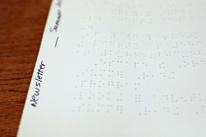 braille newsletter