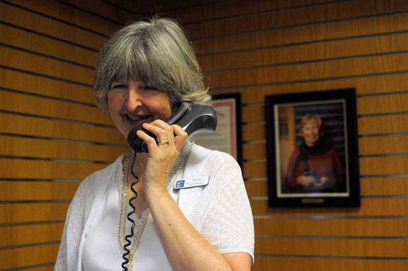 Anne Mandel is the head librarian at the Macomb Library for the Blind. She spends most of her day chatting with patrons over the phone.