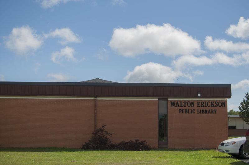 The exterior of Walton Erickson Public Library.