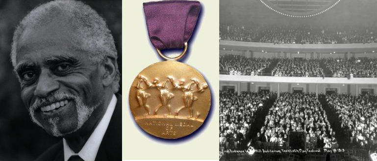 George Shirley and the University Musical Society will each receive a National Medal of Arts today at the White House.