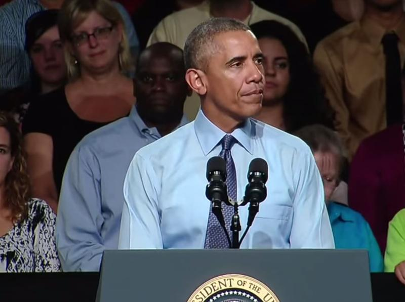 President Obama speaks at Macomb Community College.