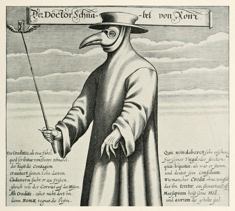 Plague doctors were special physicians payed by the city to treat those suffering from the plague in the 14th century