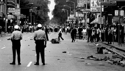 The 12th Street Riot began in the early hours of July 23, 1967 following a police raid on an unlicensed after-hours bar on the corner of 12th and Clairmount.
