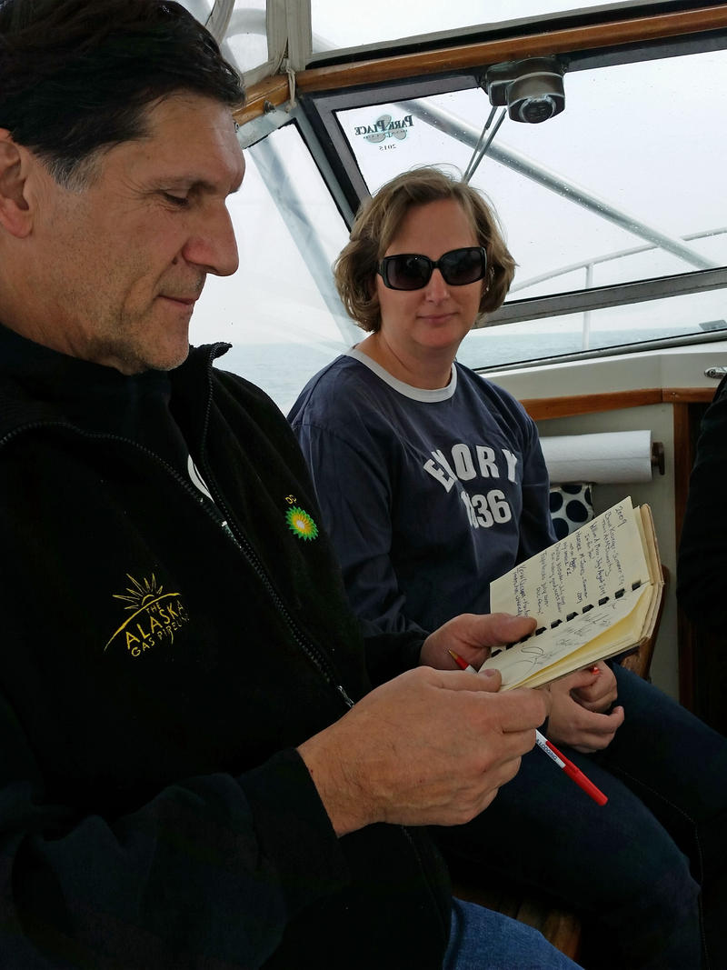 Tom's brother John Kowalczk and underwater archaeologist Carrie Sowden.