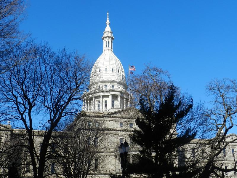 A photograph of the Michigan Capitol building