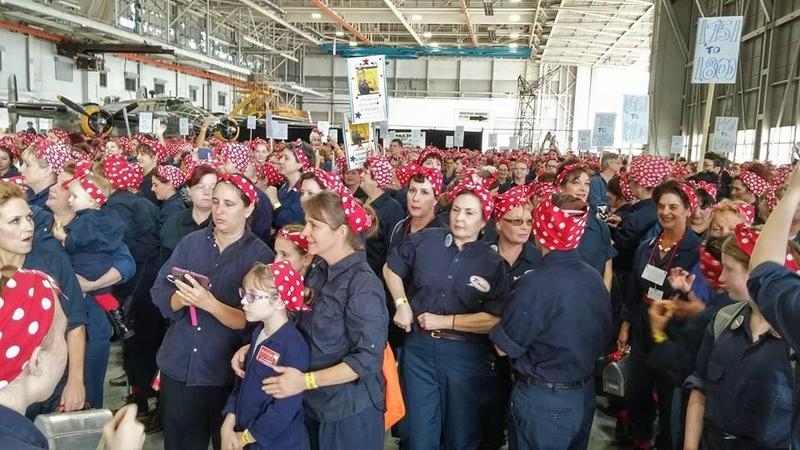 "More than 2,000 ""Rosie the Riveters"" helped recapture the Guinness World Record at the Willow Run Bomber Plant Saturday."