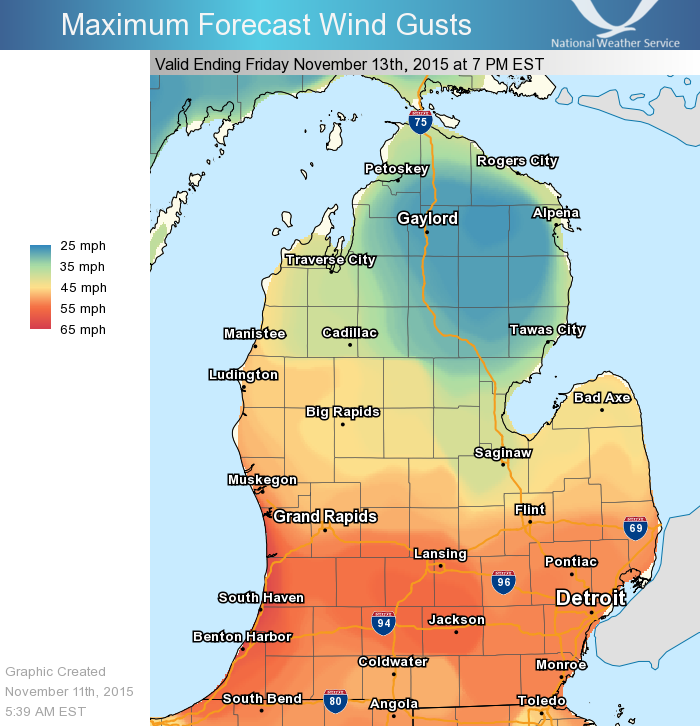 Strong winds are expected across the state tonight.