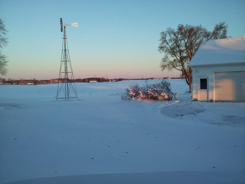 Our staff shared some snow photos too, including this beautiful shot of sunrise and snow.
