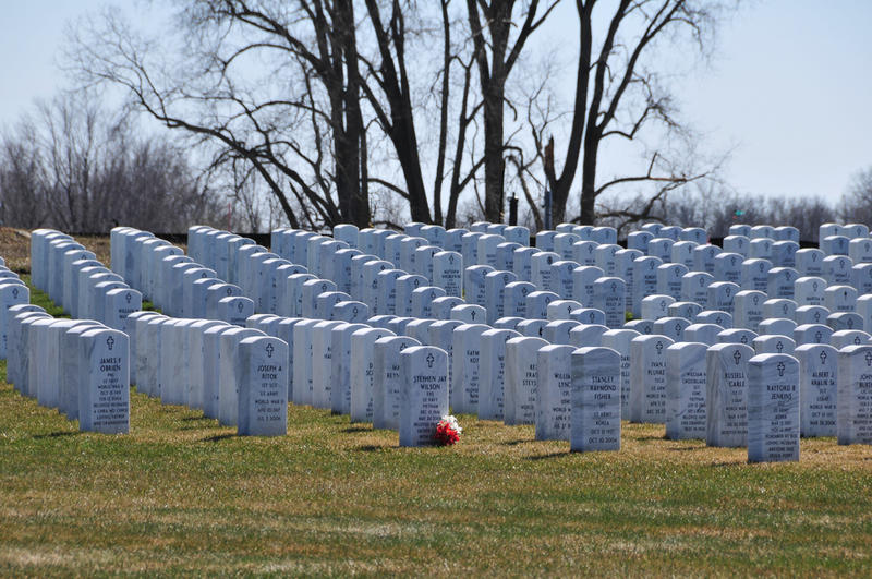 Funeral homes in the area make sure the veterans get a burial at the Great Lakes National Cemetery
