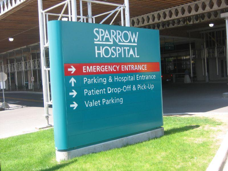 Sparrow Hospital entrance in Lansing