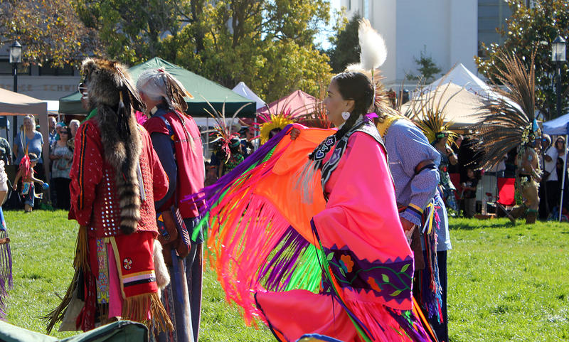 Indigenous Peoples Day celebration in Berkeley, California.