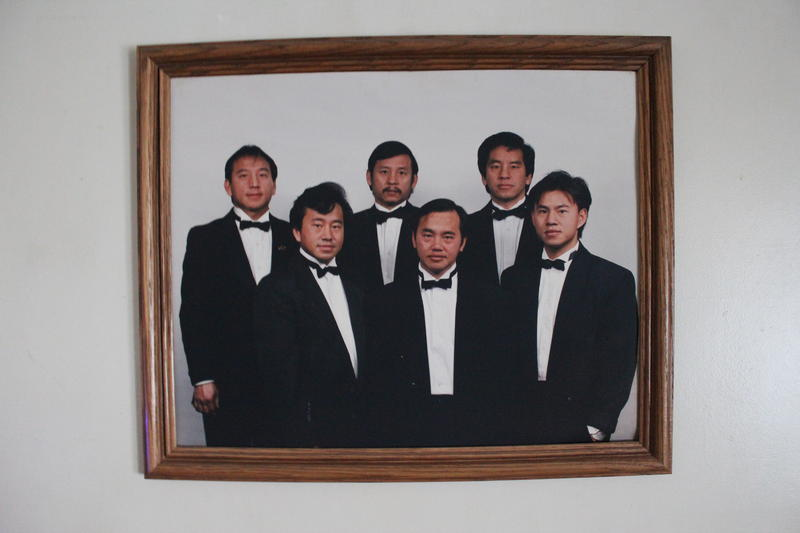 An old portrait of Richard Chang, front and center, with his five brothers.