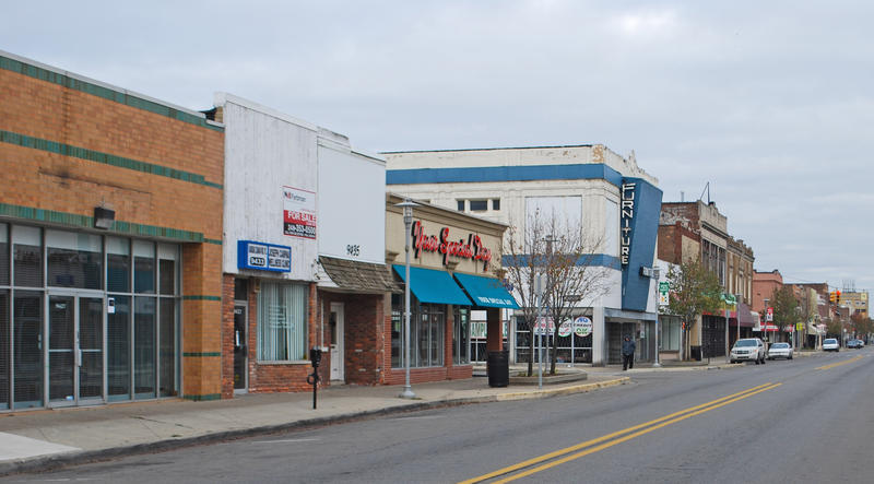 Jos Campau Historic District in Hamtramck, Michigan.