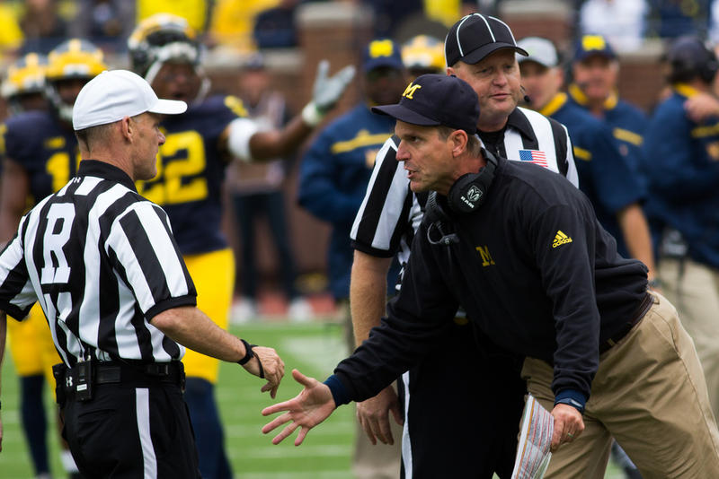 Jim Harbaugh pleads his case.