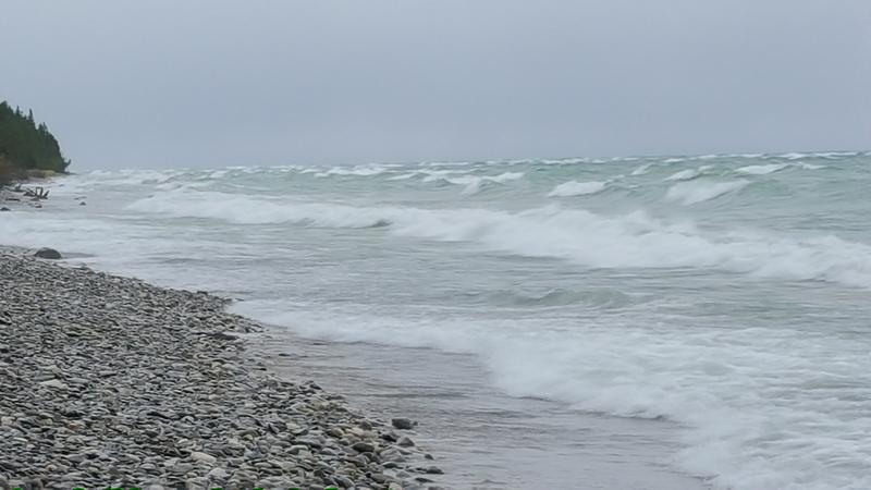 Waves at Peterson Park, Northport, MI