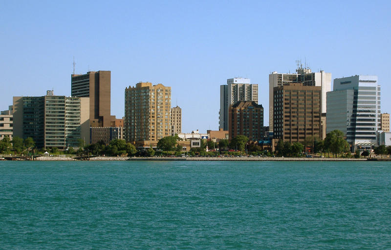 Windsor's financial district