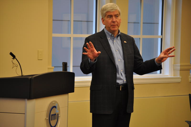 Governor Snyder (R) wrote to Secretary of State John Kerry on safety measures for admitted Syrian refugees.