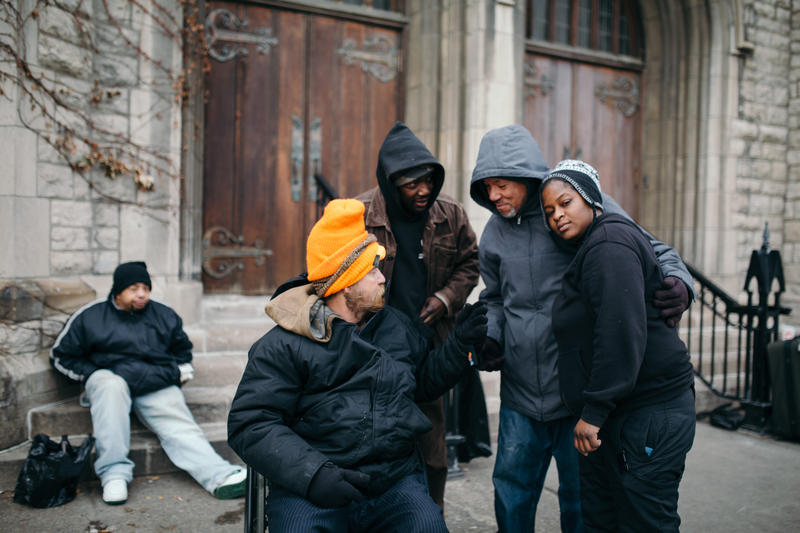 Central Methodist Church provides outdoor space for displaced Detroiters.