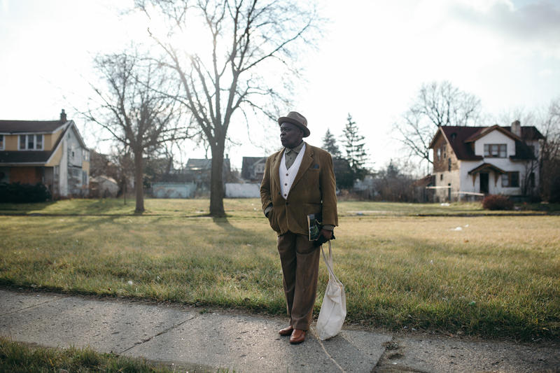 Craig Hill uses the Detroit public bus system to travel from neighborhood to neighborhood when he visits from NY.