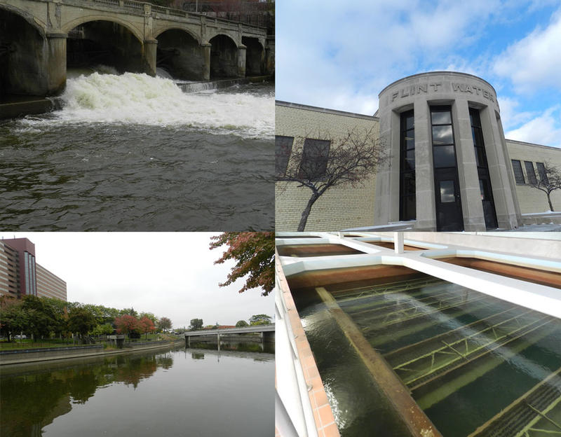 Flint River and water plant