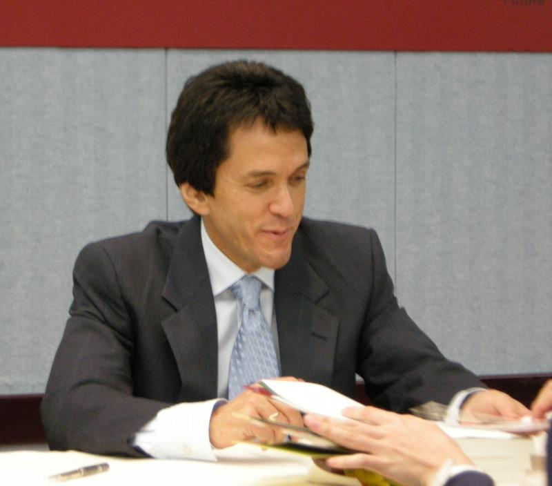 Mitch Albom signing autographs in Taipei in 2010