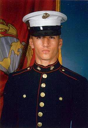 A 2001 USMC portrait of Amir Mirza Hekmati.