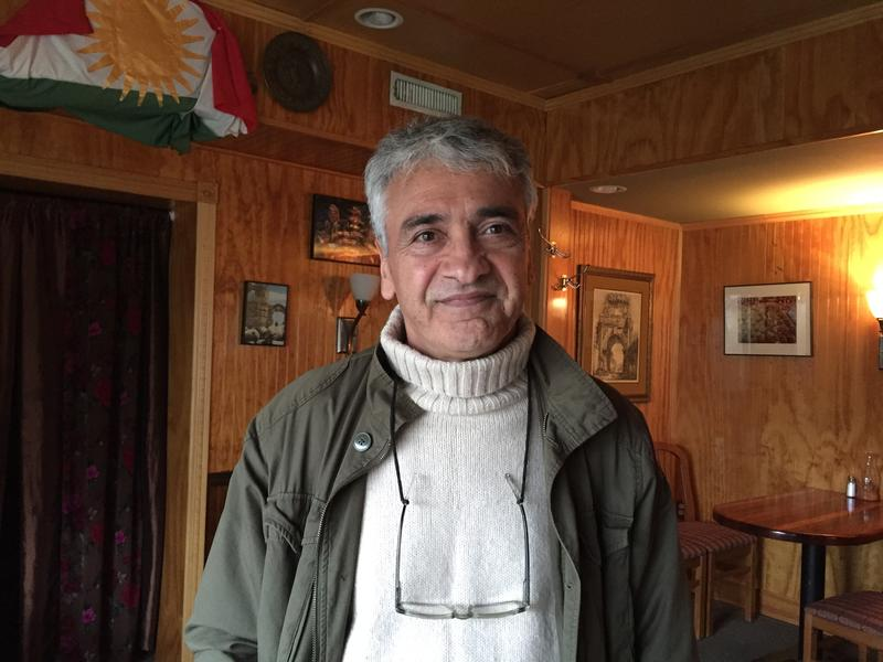 Ibrahim Parlak at his cafe in Harbert, Michigan