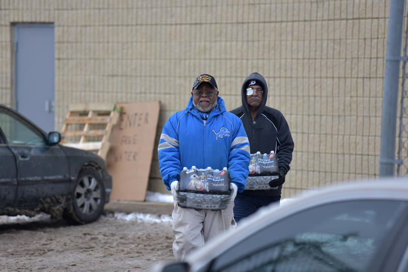 People in Flint are relying on bottled water while officials try to figure out how to fix the tap water.