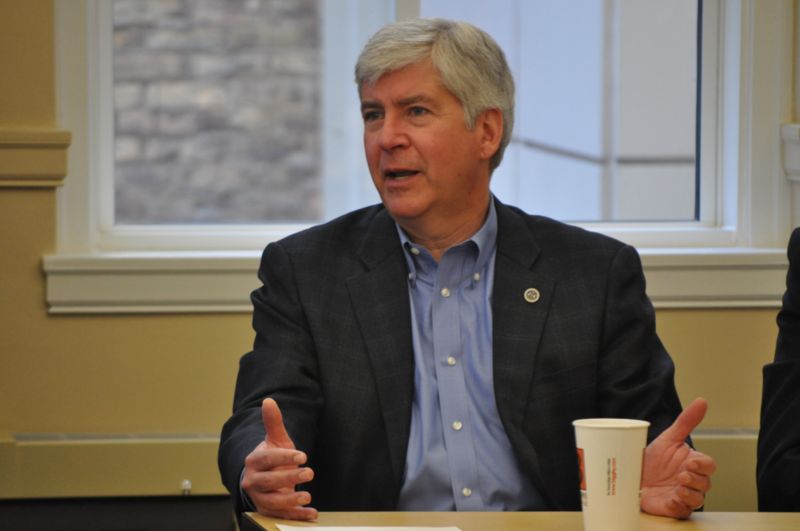 Under Michigan law, Governor Snyder is exempt from the Freedom of Information Act.
