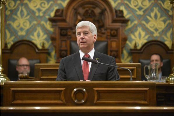 Gov. Snyder delivers his 2016 State of the State address on January 19, 2016.