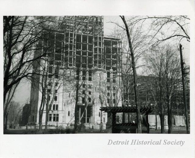 The Masonic Temple under construction in 1920. Over 1,000 Masons from all over the country came to the ceremonial laying of the building's cornerstone.