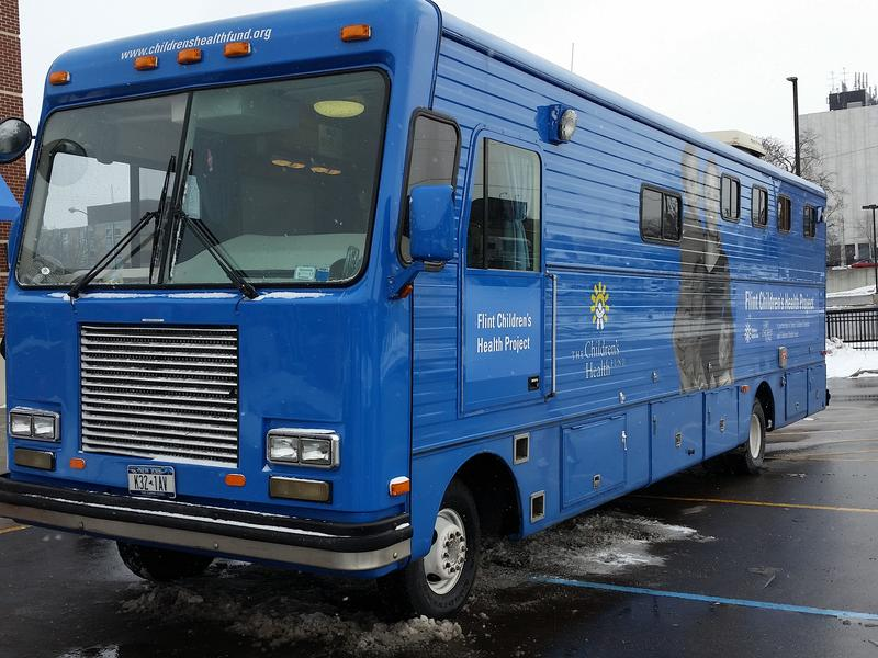 The 40-foot long RV was converted into a doctor's office on wheels.