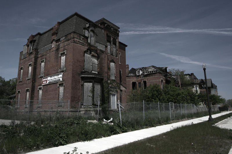 One of many abandoned structures in Detroit