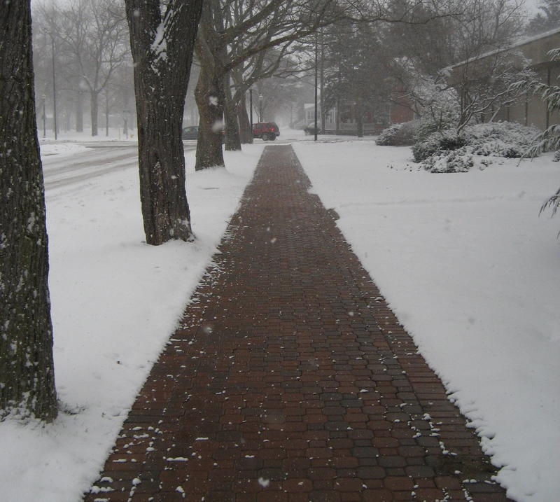 One of Holland's heated sidewalks
