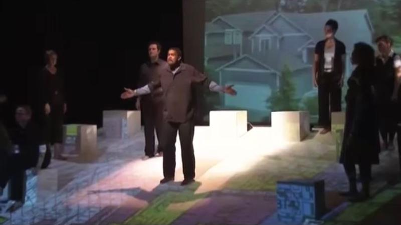 "A scene from the 2010 production of ""LINES"""