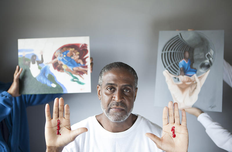 """I came to prison with blood on my hands; I will leave with paint on them"" - Johnnie Trice"