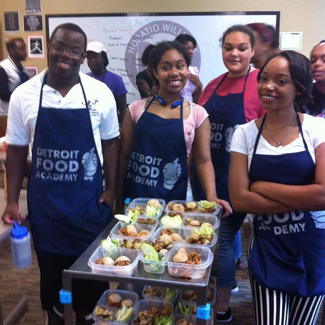 Students from the Detroit Food Academy.