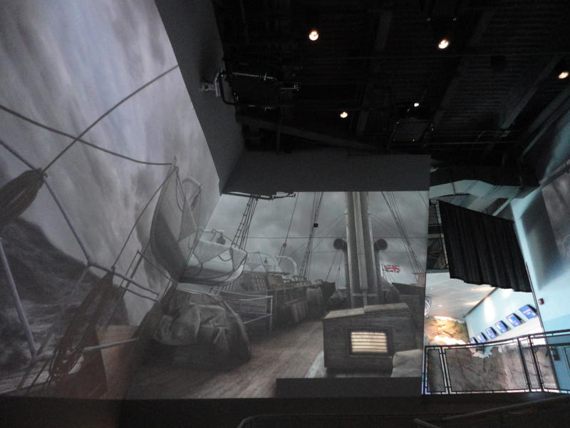 It's an immersive recreation of crossing the Drake Passage by ship.