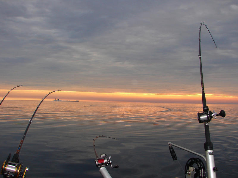 sunrise fishing on Lake Huron