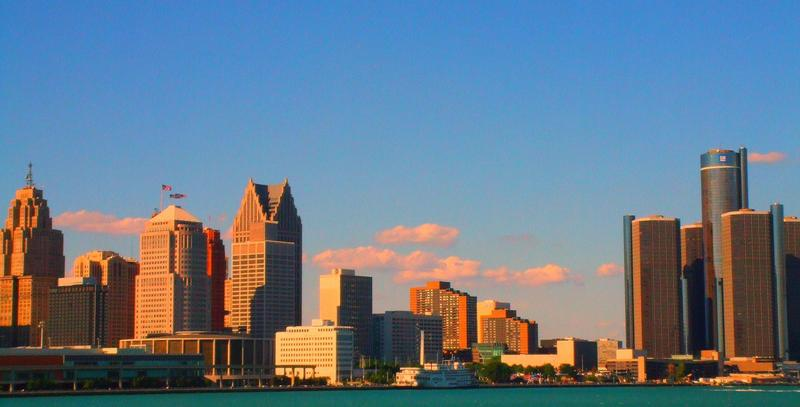 A view of the Detroit skyline