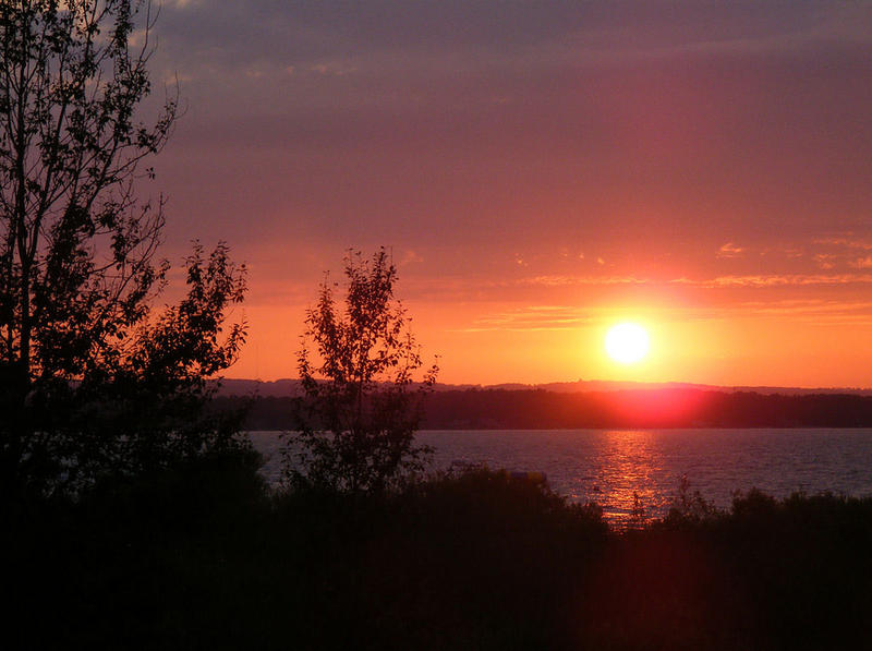 Sunset over Traverse City