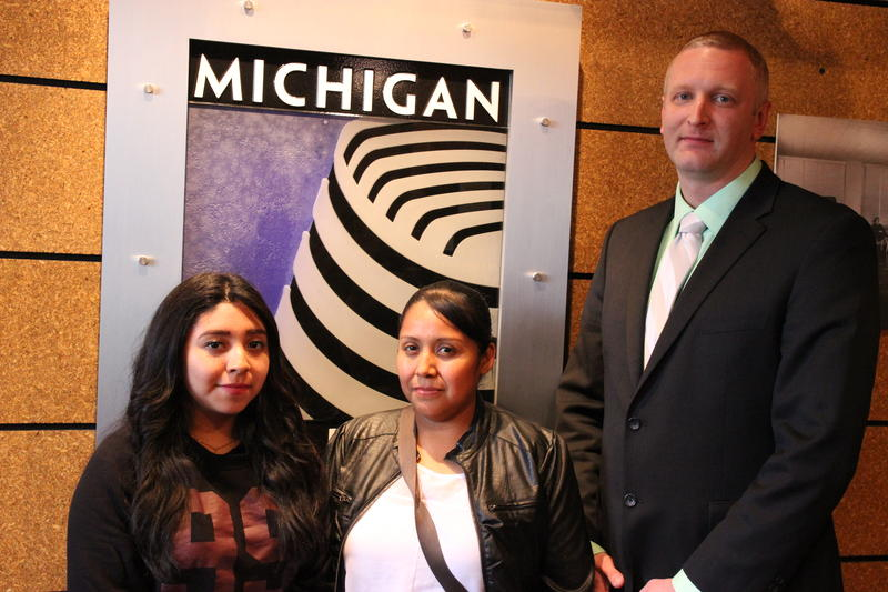 Sayra Hernandez, Susana Bernabé-Ramirez and their attorney, Brad Thompson