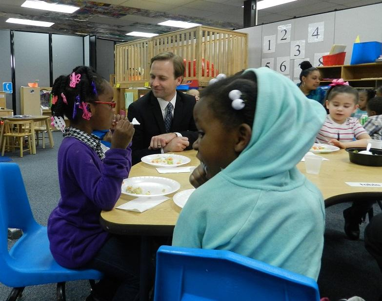 Lt. Gov. Brian Calley (R-MI) toured an early childhood education center in Flint